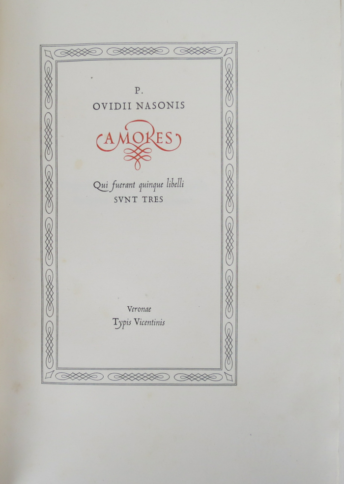 AMORES. Ovid.