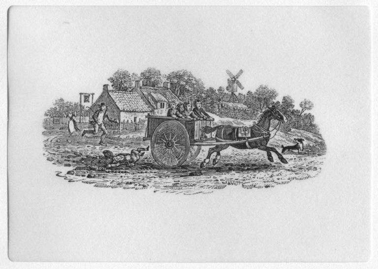 THOMAS BEWICK, TEN WORKING DRAWING REPRODUCTIONS SHOWN WITH IMPRESSIONS OF THE CORRESPONDING ENGRAVINGS. Thomas Bewick.