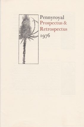 Three items, including: Pennyroyal Prospectus & Retrospectus 1976. Barry Moser
