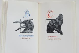 A Fowl Alphabet. Twenty-six wood engravings by Alan James Robinson. Lettering by Suzanne Moore.