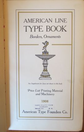 AMERICAN LINE TYPE BOOK.