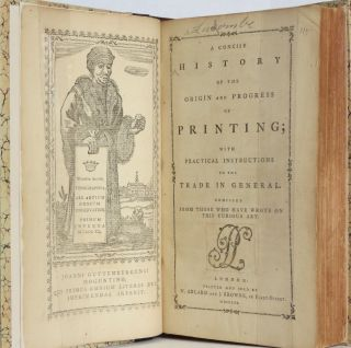 A CONCISE HISTORY OF THE ORIGIN AND PROGRESS OF PRINTING;. Philip LUCKOMBE