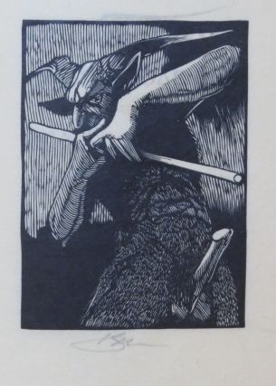 EIGHT WOOD ENGRAVINGS ON A THEME OF PAN.