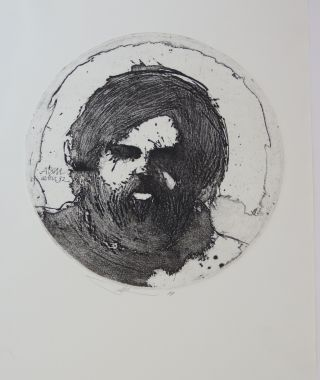 """ABM aetat 32."" Artist's self portrait at the age of 32. Barry Moser."