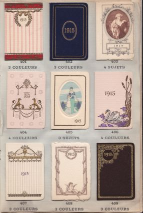 "CALENDRIERS ""BIJOU"" pour 1915. Stationery Sample."