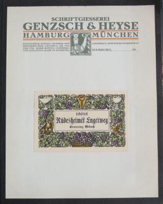 Album of typographic specimens. Genzsch, Henze Schriftgiesserei