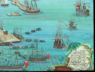 A VIEW OF PART OF THE TOWN OF BOSTON IN NEW ENGLAND AND BRITISH SHIPS OF WAR LANDING THEIR TROOPS! 1768.