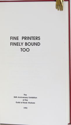 Fine Printers Finely Bound Too.