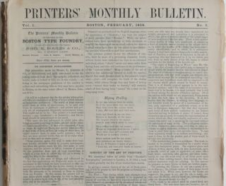 The Printers' Monthly Bulletin. Volume 1, No. 2 to Volume II, No. 12.
