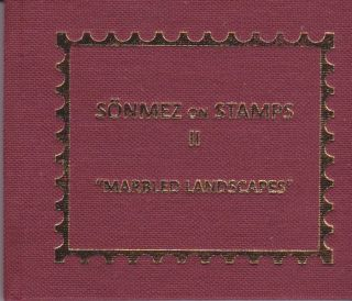 "Sonmez on Stamps II: ""Marbled Landscapes."" Nedim Sönmez."