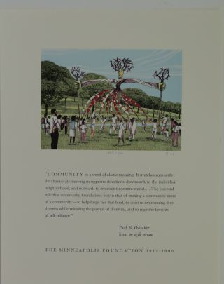 Three signed broadsides with color wood engravings: