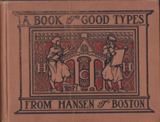 SPECIMEN BOOK OF TYPE AND PRINTING MATERIAL. Hansen