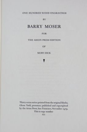 100 Wood Engravings by Barry Moser for the Arion Press Edition of Moby-Dick.