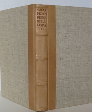 BIBLIOGRAPHY OF THE GRABHORN PRESS 1915-1940. Elinor Raas Heller, David Magee