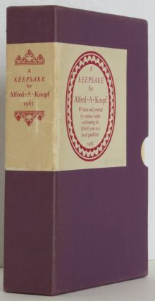 A Keepsake for Alfred A. Knopf,