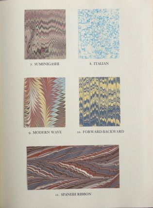 MARBLED PAPERS. Being a Collection of Twenty-two Contemporary Hand-Marbled Papers, showing a variety of patterns and special techniques.