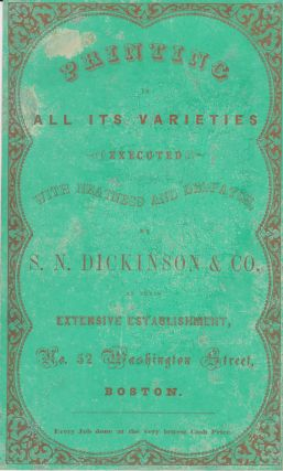 Large trade card. Dickinson, S. N. Co